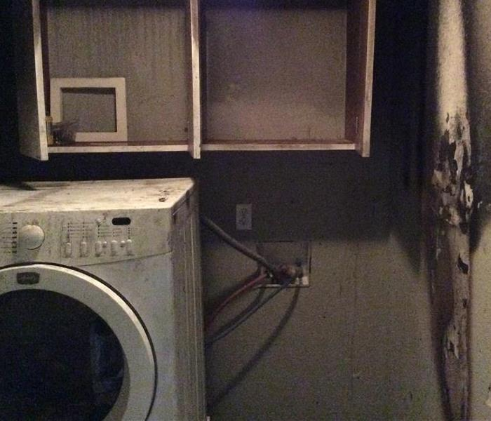 Laundry Room Fire Caused by Dryer.
