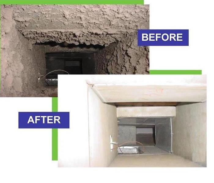 Before and After cleaning AC Ducts.